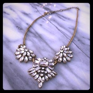 J. Crew gold & cubic zirconia necklace